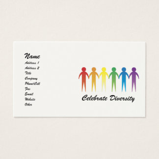 Rainbow Diversity Customizable Business Cards