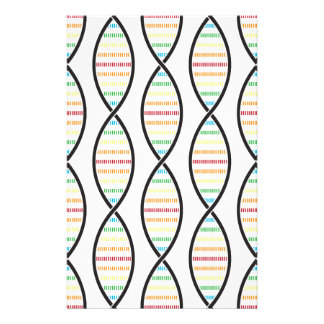 Rainbow DNA Strands Stationery