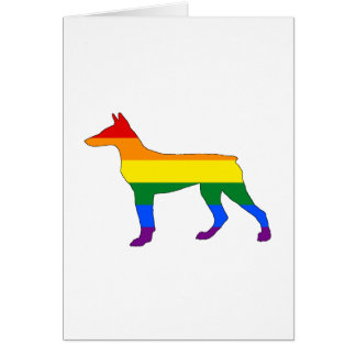 Rainbow Doberman Card