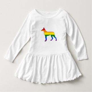 Rainbow Doberman Dress