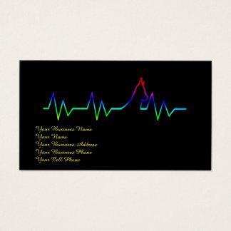 Rainbow Dog Heartbeat Business Card