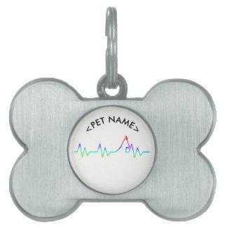 Rainbow Dog Heartbeat Pet ID Tag