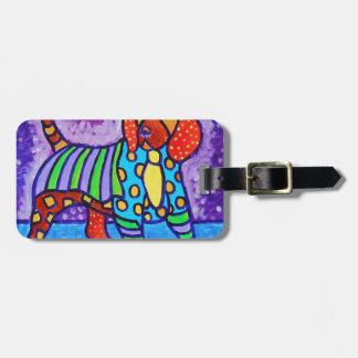 Rainbow Dog Luggage Tag