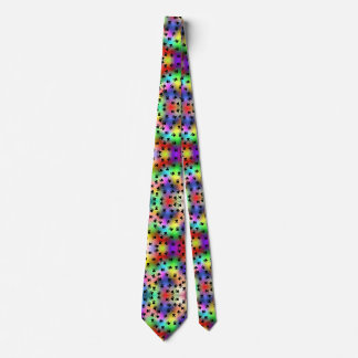 Rainbow dog paw prints Tie