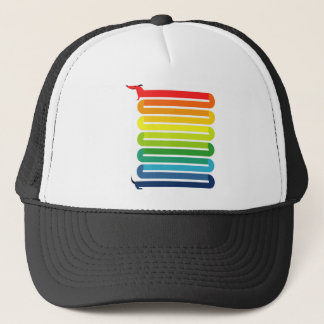Rainbow Dog Trucker Hat
