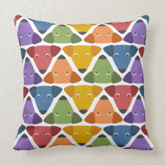 Rainbow Dogs Throw Pillow