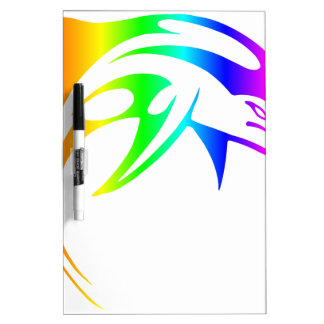 Rainbow Dolphin Dry-Erase Whiteboards