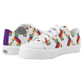 Rainbow Donkey Piñata Birthday Party Fiesta Pride Low-Top Sneakers