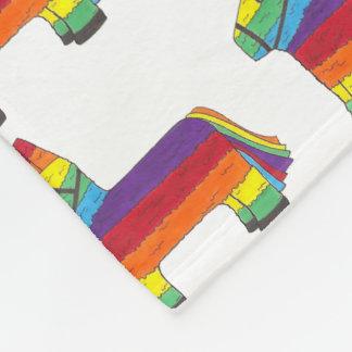 Rainbow Donkey Piñata Cinco de Mayo Pride Fiesta Fleece Blanket
