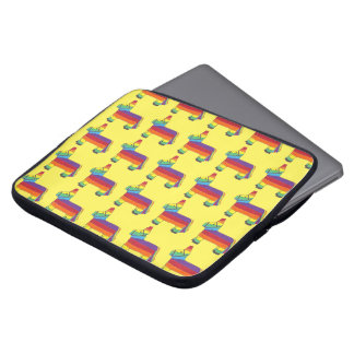 Rainbow Donkey Piñata Cinco de Mayo Pride Fiesta Laptop Sleeve