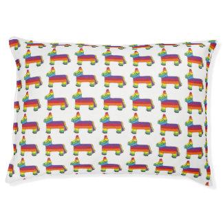 Rainbow Donkey Piñata Cinco de Mayo Pride Fiesta Pet Bed