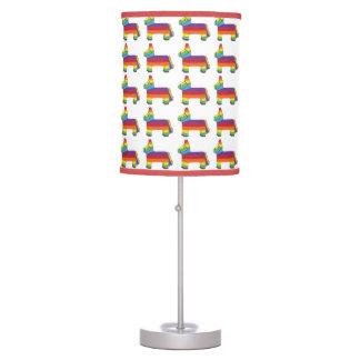 Rainbow Donkey Piñata Cinco de Mayo Pride Fiesta Table Lamp
