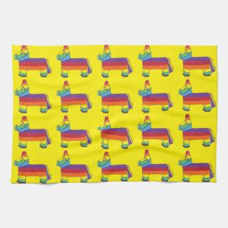 Rainbow Donkey Piñata Fiesta Birthday Party Pride Kitchen Towel