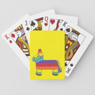 Rainbow Donkey Piñata Fiesta Birthday Party Pride Playing Cards