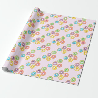 Rainbow Donuts Wrapping Paper