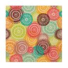 Rainbow Doodle Lace Doily Mandala Circles Wood Print