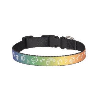 Rainbow Doodle Pet Collar