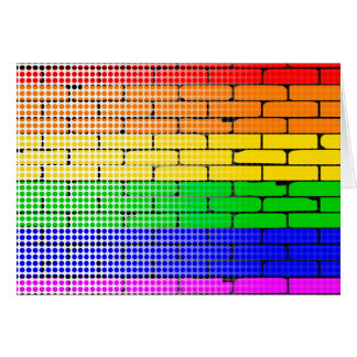 Rainbow Dot Matrix Card