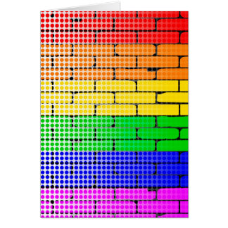 Rainbow Dot Matrix Card