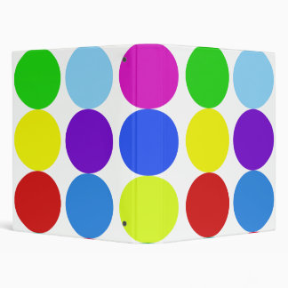 RAINBOW DOTS BINDER