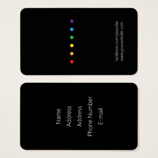 Rainbow Dots LGBT Pride Business Card
