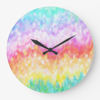 Rainbow Dots Nursery Clock