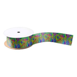 Rainbow Dots Satin Ribbon