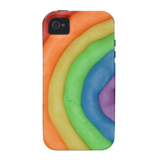 Rainbow Dough Strings Vibe iPhone 4 Cases