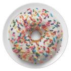 Rainbow Doughnut Sprinkle Lite, on White Plate