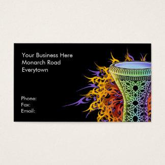 Rainbow Doumbek Business Cards
