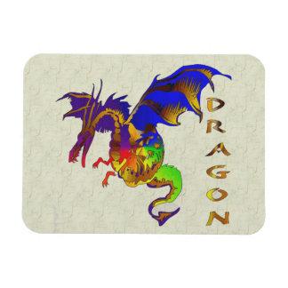 Rainbow Dragon Magnet