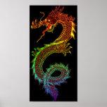 Rainbow Dragon Poster
