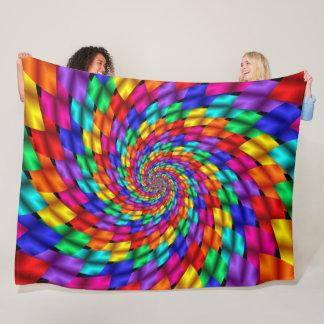 Rainbow Dragon Scales Mandala Fleece Blanket