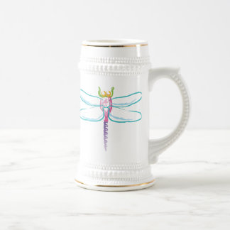 Rainbow Dragonfly Beer Stein