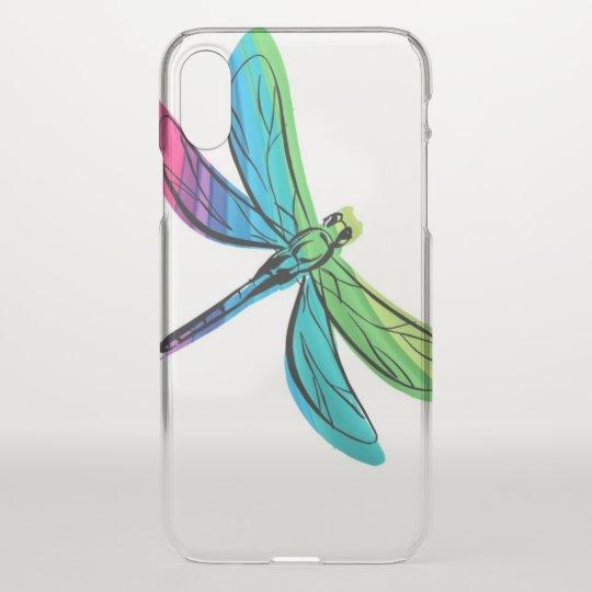 Rainbow Dragonfly iPhone X Case