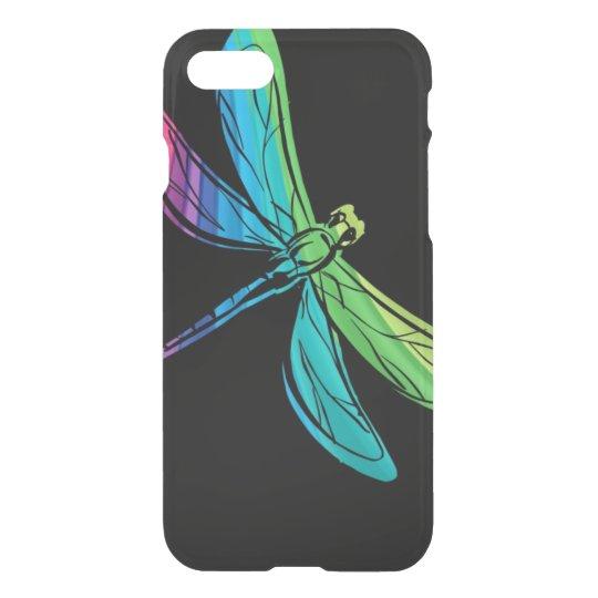 Rainbow Dragonfly on Black iPhone 8/7 Case