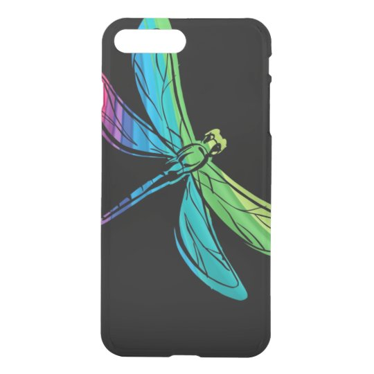 Rainbow Dragonfly on Black iPhone 8 Plus/7 Plus Case