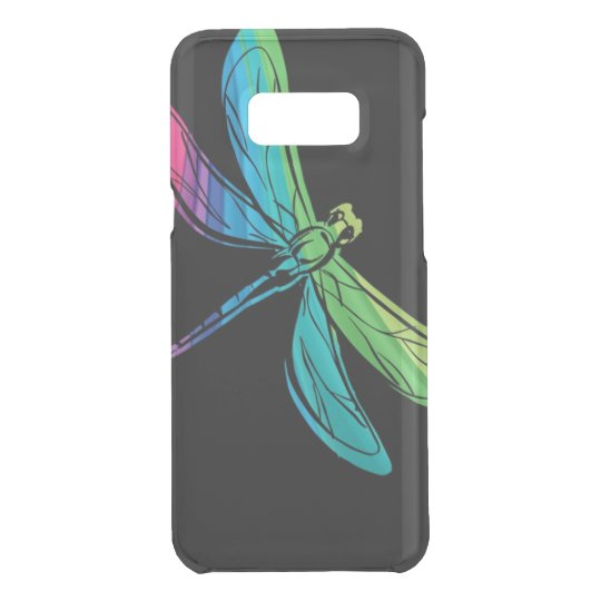 Rainbow Dragonfly on Black Uncommon Samsung Galaxy S8 Plus Case