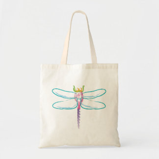 Rainbow Dragonfly Tote Bag