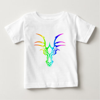 Rainbow Dragon's Head Baby T-Shirt