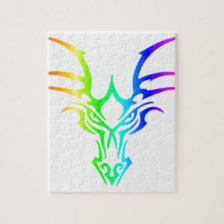 Rainbow Dragon's Head Jigsaw Puzzle