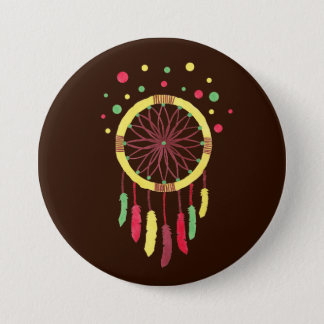 Rainbow Dreamcatcher 3 Inch Round Button