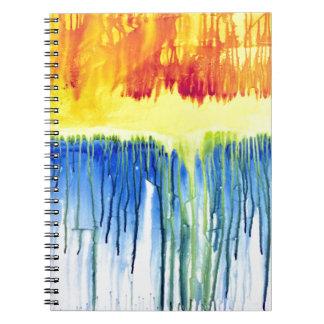 Rainbow Drip Notebook