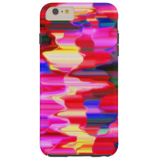 rainbow dripping paint tough iPhone 6 plus case