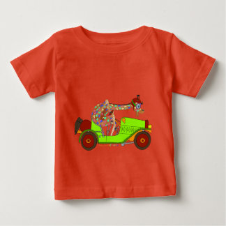 Rainbow Driving Fast Baby T-Shirt