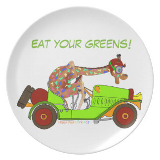 Rainbow Driving Fast Plate
