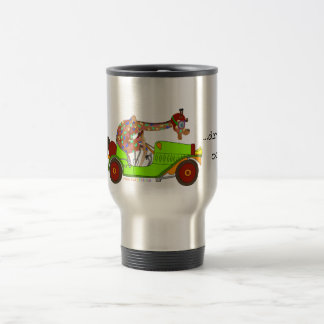 Rainbow Driving Fast Travel Mug