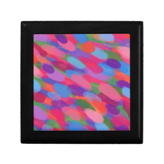 Rainbow Droplets Colorful Abstract Pattern Gift Box