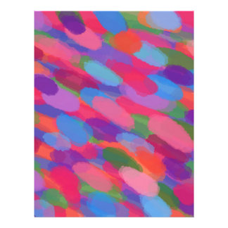 Rainbow Droplets Colorful Abstract Pattern Letterhead