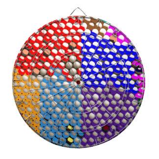 RAINBOW DROPS : Colorful Dot patterns Dartboards